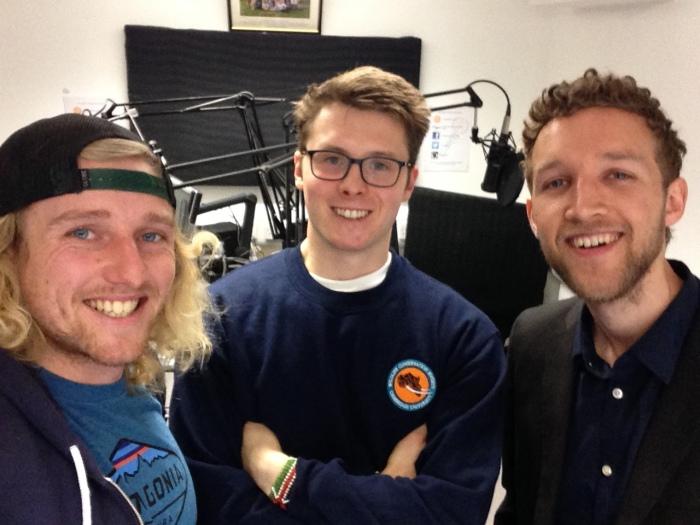 Simon Moore, Tom Jameson & Simon Hoyte after recording Ep 8